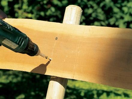 как сделать скамейку бензопилой