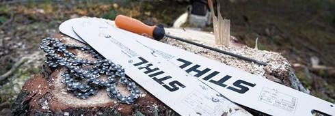 STIHL Правильный монтаж пильной цепи и шин