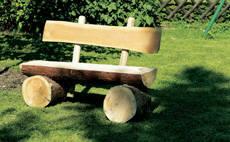 Скамейка из ствола дерева своими руками