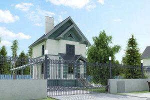 Проект дома из газоблока Уют-1
