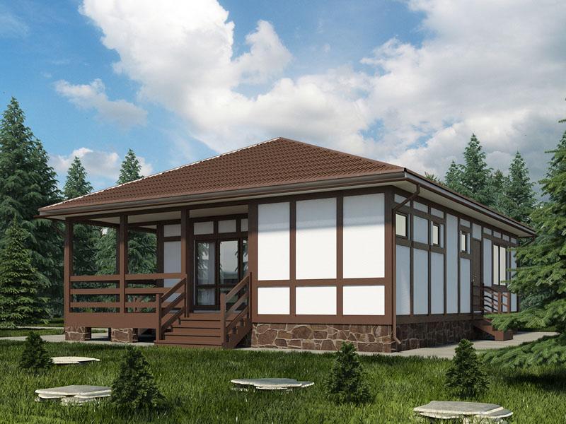 Строительство одноэтажного каркасного дома