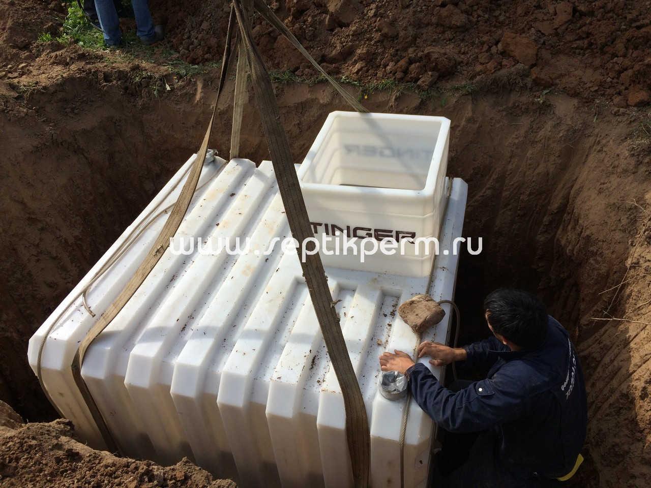 Установка погреба по уровню