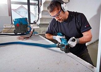 Соединение строительного пылесоса с рабочим инструментом