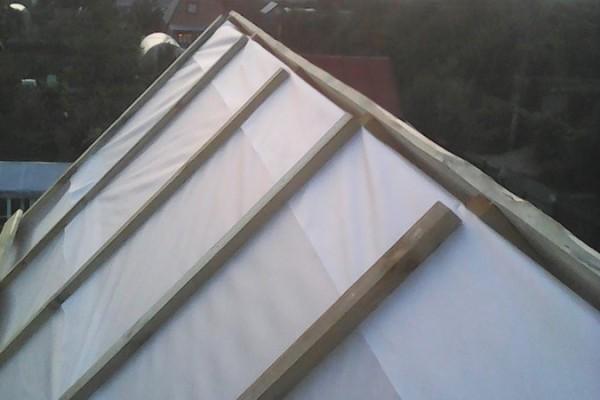 Контробрешетка на крыше