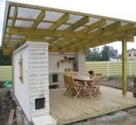 Навес с односкатной крышей: порядок возведения
