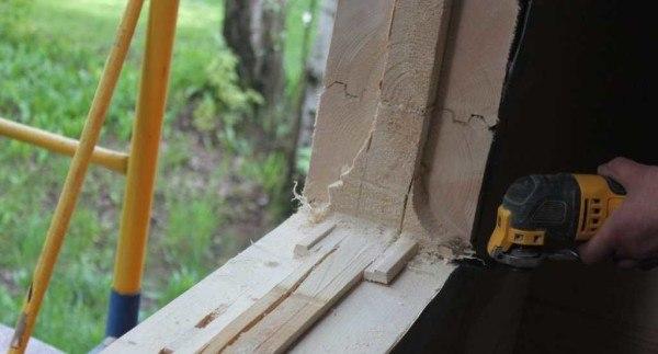 Как сделать окосячку окна