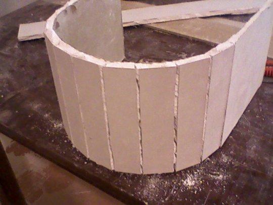 Гипсокартонный лист готовый к сухой гибке