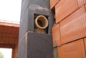 Дымоход из керамзитовых блоков своими руками