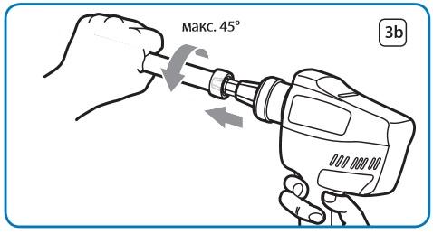 Расширение трубы при помощи аккумуляторного инструмента