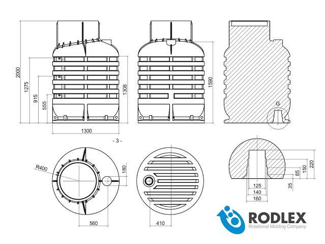 Чертёж кессона для скважины RODLEX KS2