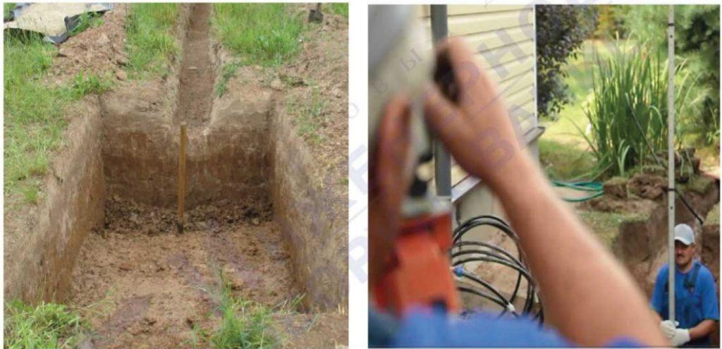 бетонной основание под септик