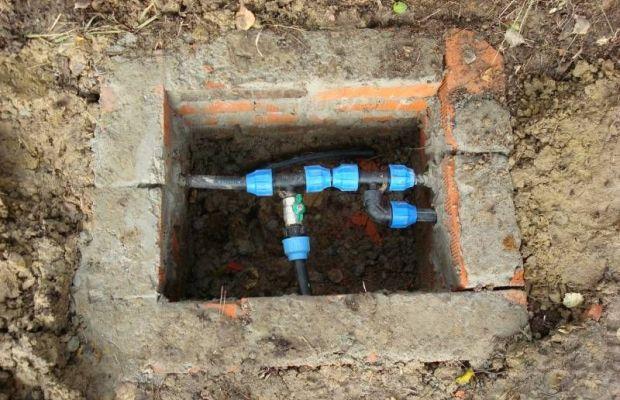 Водопроводный колодец