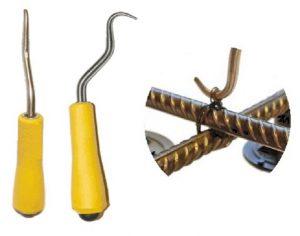 Крюк для вязки арматуры и вязка арматуры с его помощью