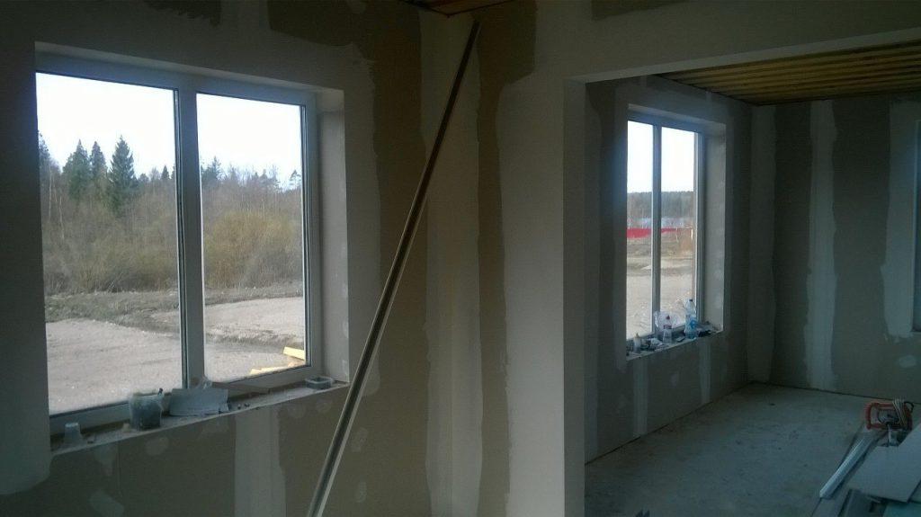 начало отделка стен помещения 2