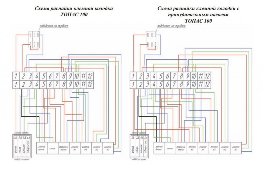 Схема блока управления Топас 100 (Пр)