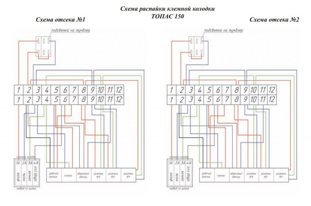 Схема блока управления Топас 150