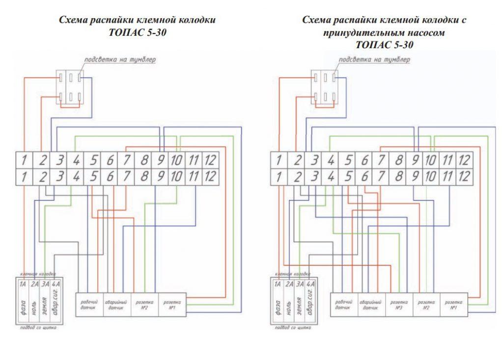 Схема блока управления Топас 5-30 (Пр)