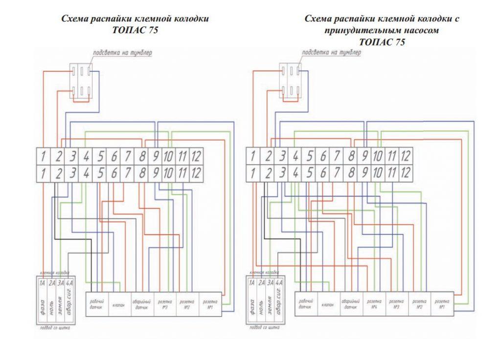 Схема блока управления Топас 75 (Пр)