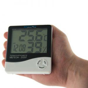 Термогигрометр МЕГЕОН, руководство, паспорт