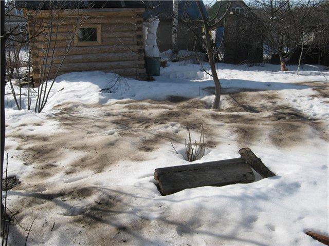 работы в саду: присыпать снег золой