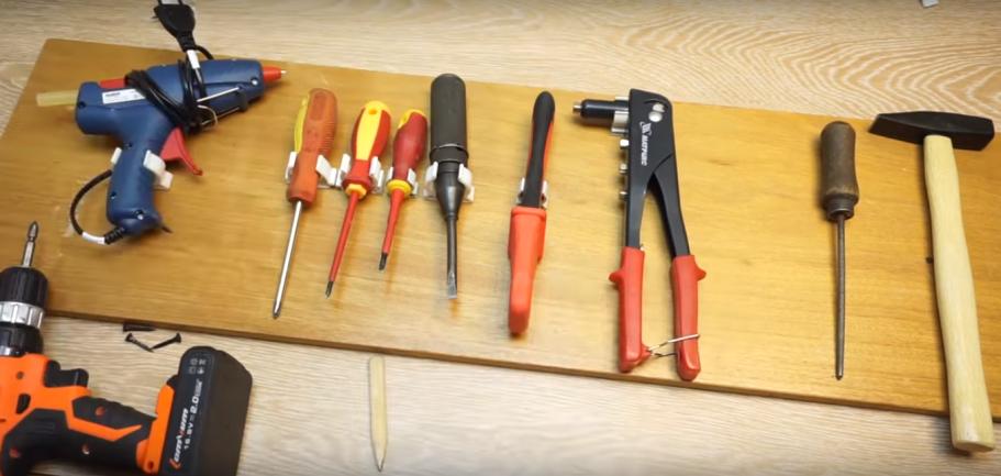 удобное и простое в исполнении хранилище для инструментов