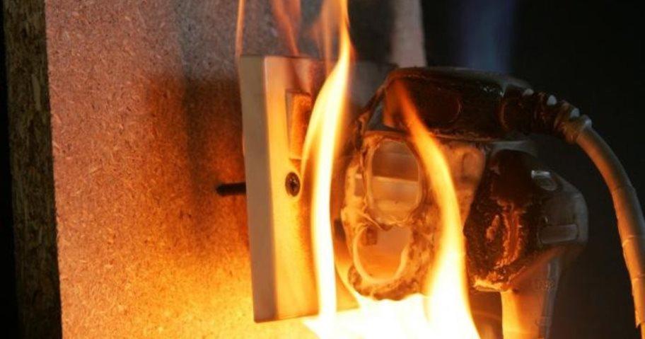 пожар из-за электропроводки
