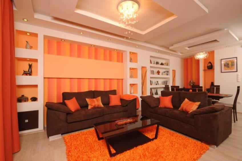 Цвет интерьера оранжевый