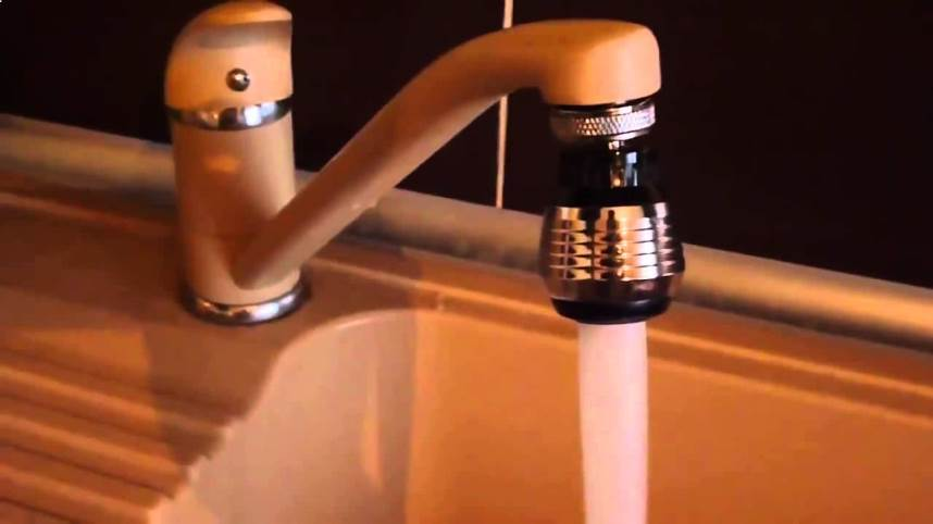 аэратор уменьшает расход воды