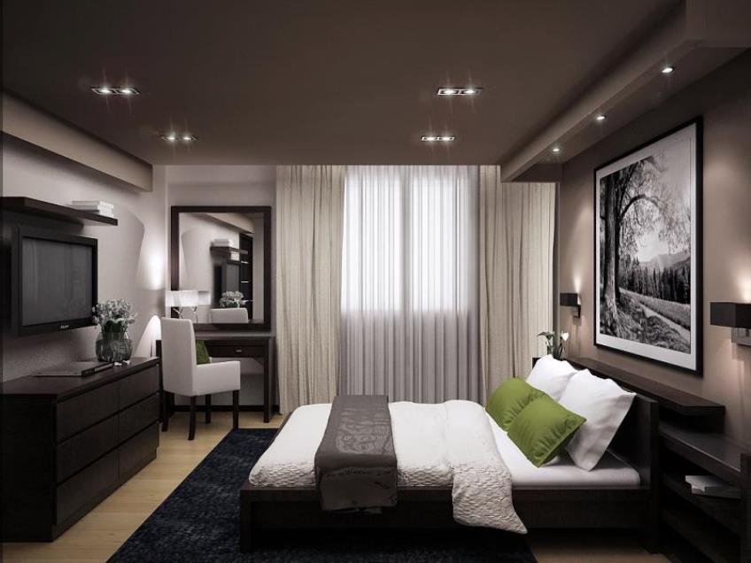проект дома и спальня