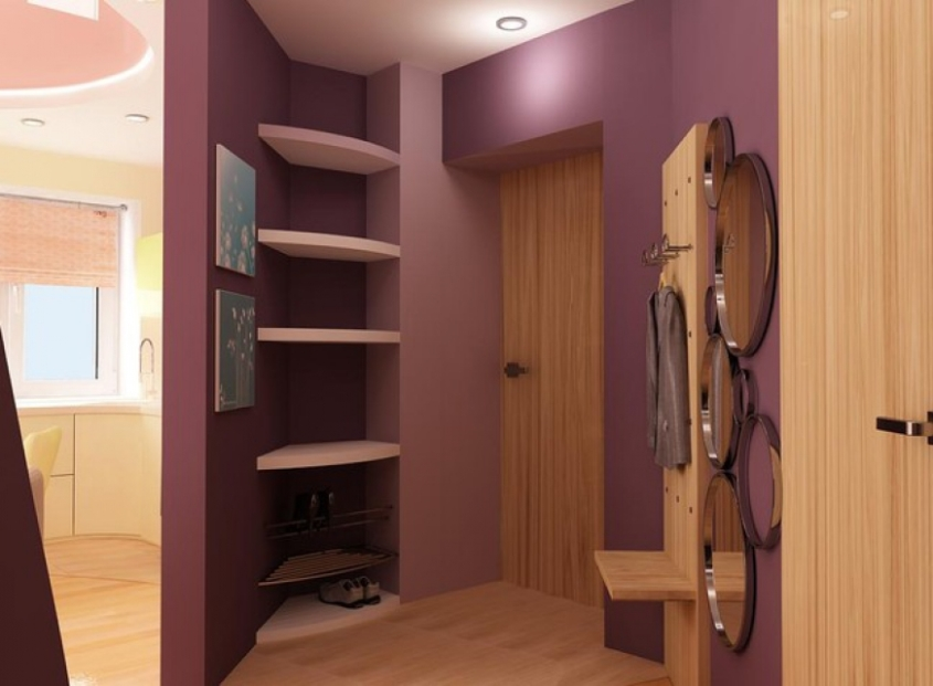 Цвет интерьера фиолетовый