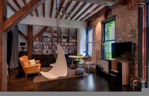 Стены, потолок и пол в стиле Лофт: от дерева до кирпича