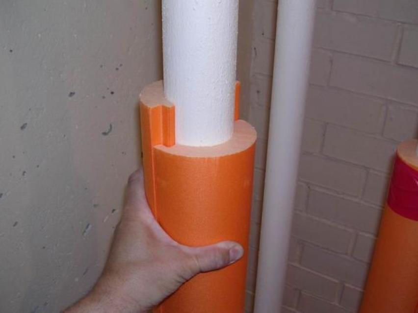 Шумоизоляция на канализационных трубах