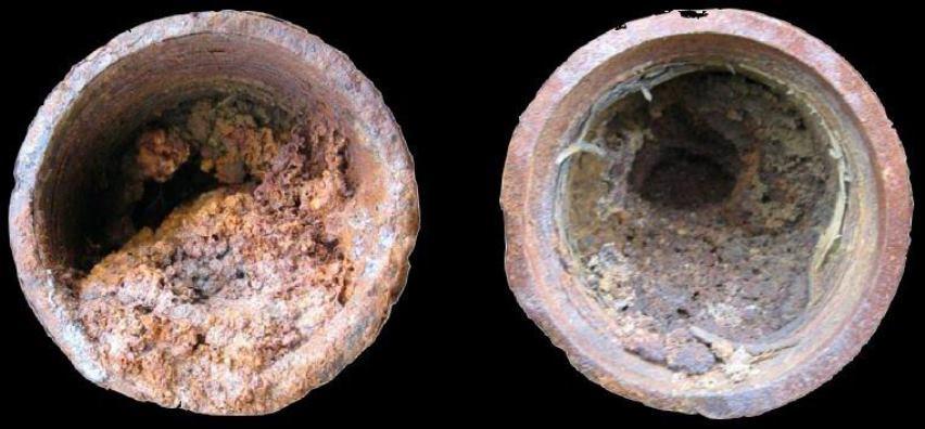 Заиленные трубы скважины