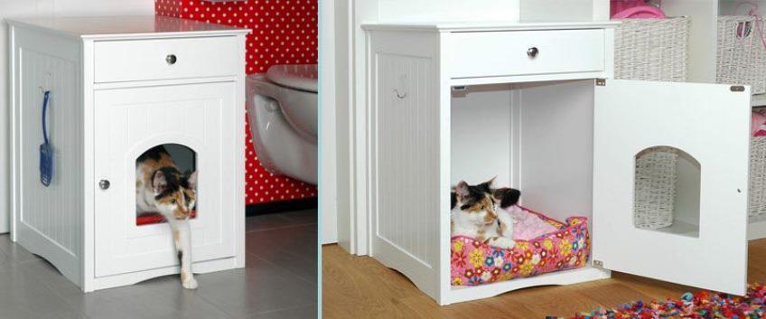 Готовый кошачий туалетный домик