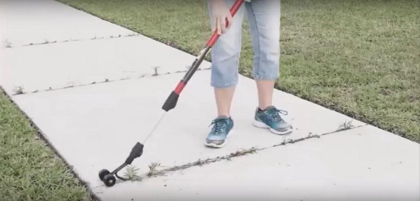 Использование роликовой тяпки