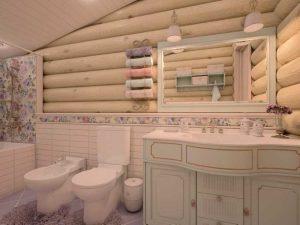 Особенности дизайна и оформления ванной комнаты в деревянном доме