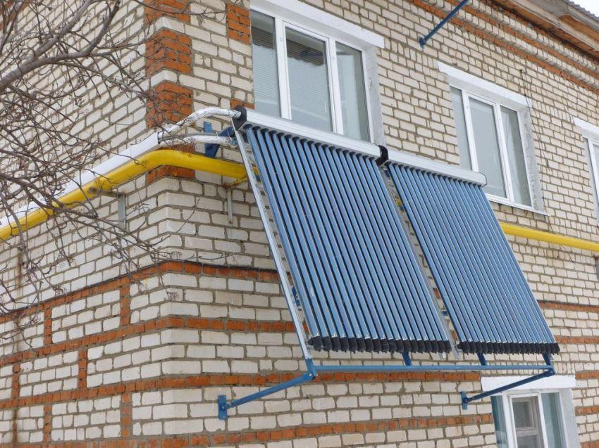 Заводской солнечный водонагреватель