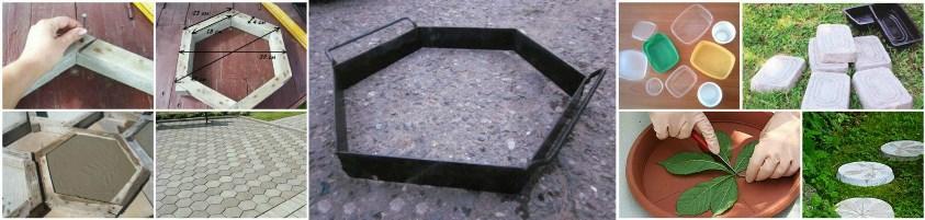 Формы, в которые заливается бетон