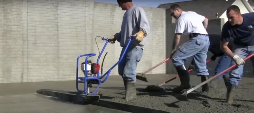 Устройство для выравнивания и уплотнения бетона