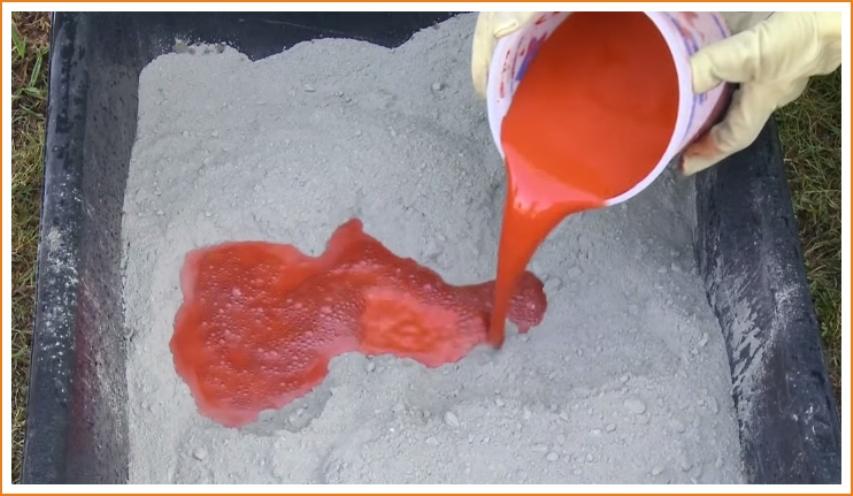 Пигментирование бетона