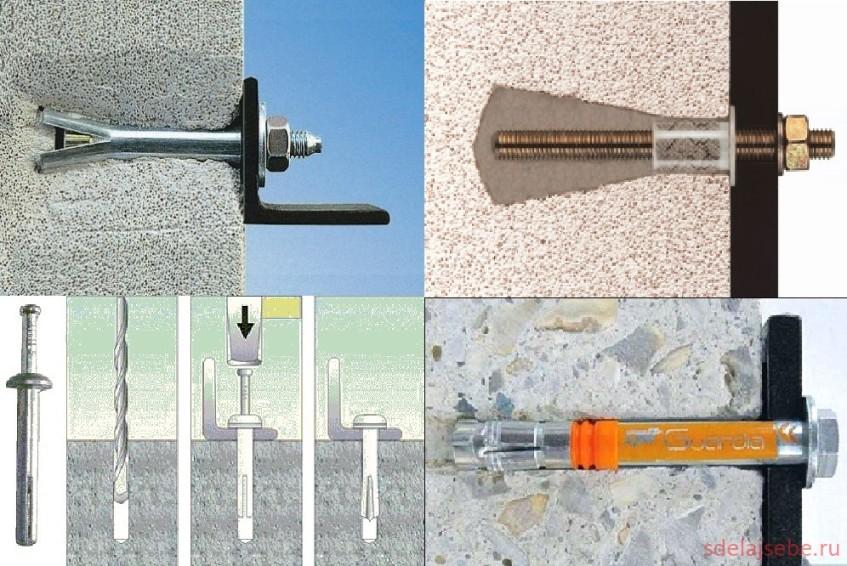 Области применения анкера потолочного