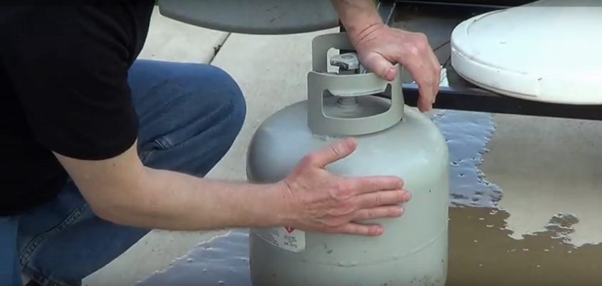 Уровень газа в газовом баллоне