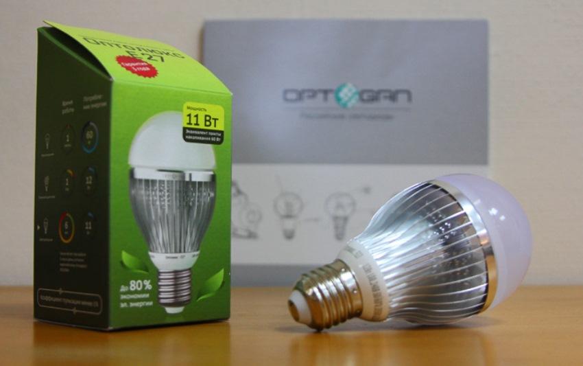 Светодиодная лампа и ее упаковка