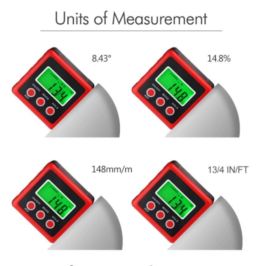 Инструмент способен производить измерения в единицах, удобных для пользователя