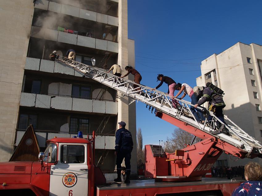 Спасение людей на пожаре