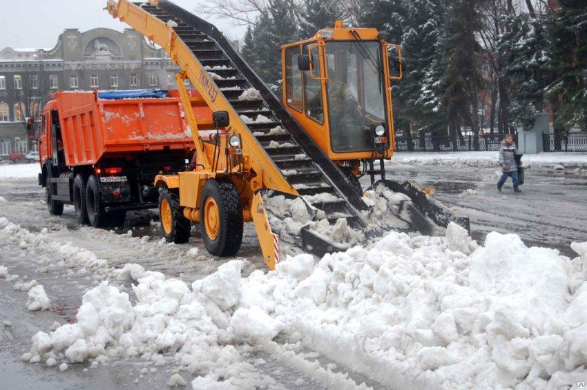 Уборка снега с привлечением техники