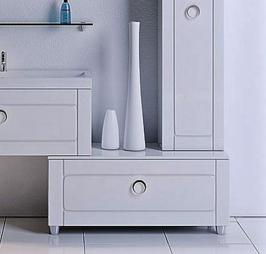 Разновидности комодов для ванной без раковины
