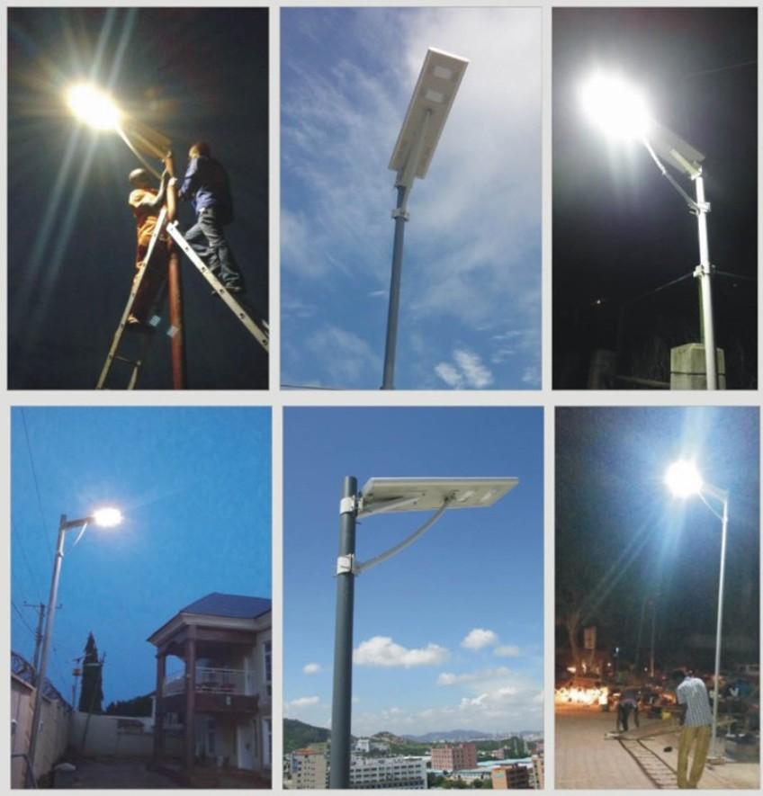 Установка светодиодных светильников для улицы