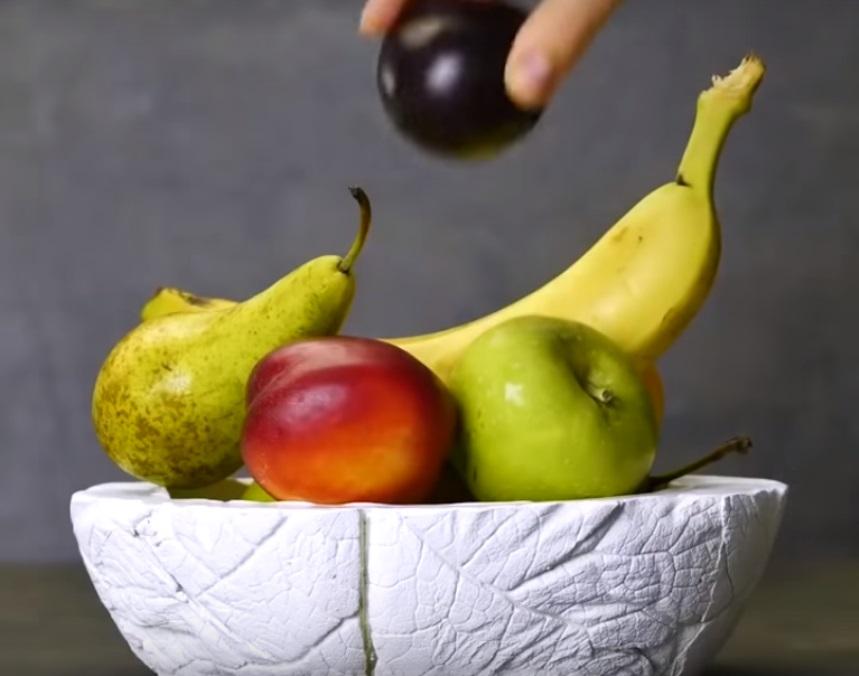 Поделки: ваза для фруктов