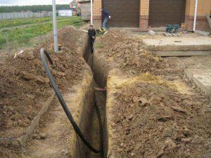 Монтаж наружного водопровода и его защита от замерзания своими руками